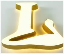 LEDアクリル文字仕様加工正面